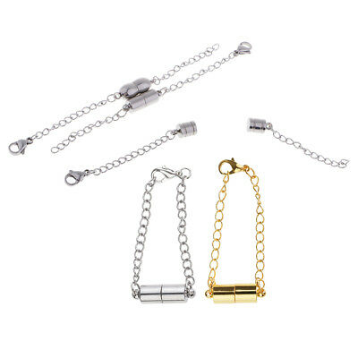 5 Set Magnetic Lobster Clasp with Chain Extender for Jewelry Bracelet Making