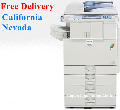 Ricoh MPC2551 MP C2551 Color Copier with Finisher Speed 25 ppm Low Meter .a