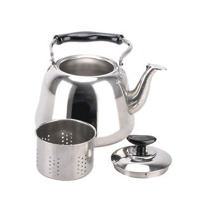 Stainless Steel Whistling Kettle with Infuser Fast Boil Tea Pot Silver 2L