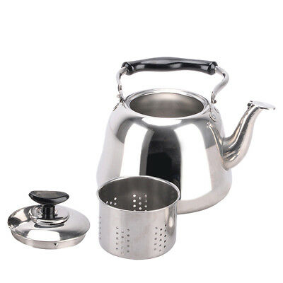 Induction Whistling Kettle Tea Pot with Infuser Kitchen Camping Stove Hob 3L