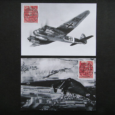 Germany Nazi 1945 Stamps used Air Force Planes Elite Storm Trooper Third Reich D