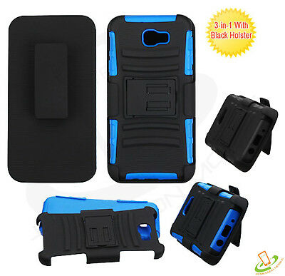 For LG Stylo 4 /Plus Hybrid Armor Clip Holster Rugged Hard Shockproof Case Cover
