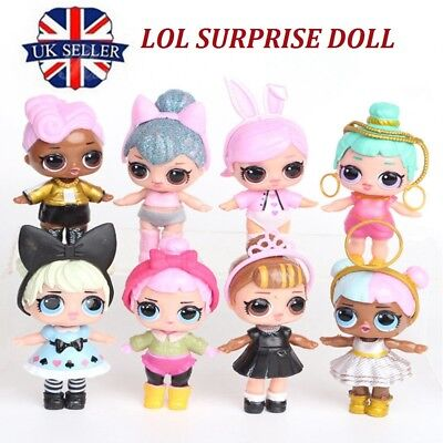 8PCS/Set LOL SURPRISE DOLL Blind Mystery Figure Cake Topper Toy -CHEAPEST in UK