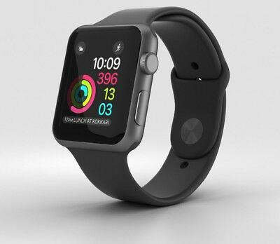 Apple Watch Series 1 42mm WiFi GPS Aluminum Case Sport Band Smartwatch iOS Gray