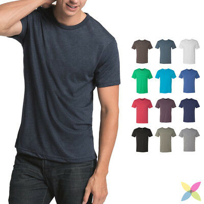 NEW! Next Level Mens Tri Blend Crew Neck Tee Soft & Stretchy T-Shirt 6010