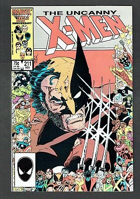 Uncanny X-Men #211 Marvel Comics 1986 VF+ Wolverine Collectable Collage Cover