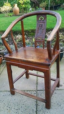 Antique Chinese Qing Dynasty Chair 19th early 20th century