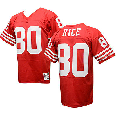JERRY RICE  80 San Francisco 49ers Throwback Jersey Mitchell   Ness ... 2a65befbe