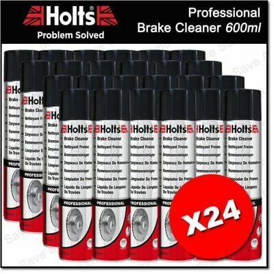 24x Holts Professional Brake Clutch & Parts Cleaner Degreaser 600ml 100% Solvent