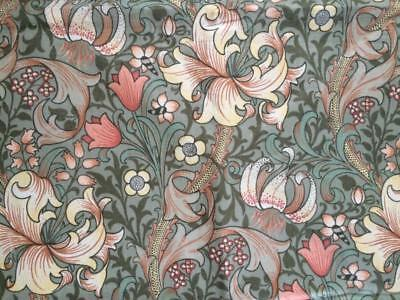 Vintage Sanderson Fabric William Morris 'Golden Lily Minor' Morris & Co.