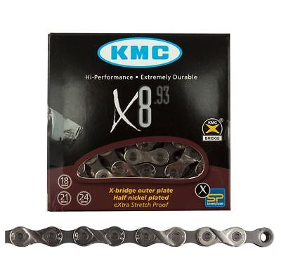 "KMC Z33 Silver 5//6-Speed 1//2/"" x 3//32/"" Non-Index Road//MTB BMX  Bike Chain  Z33NP"