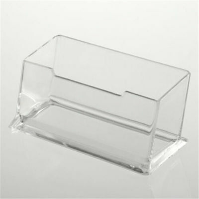 Clear Desktop Business Card Holder Display Stand Acrylic Plastic Desk Shelf YH