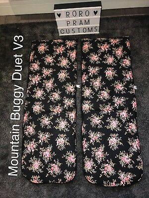 Rose Flowers Mountain Buggy Duet V3 Liners X 2