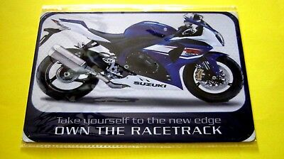 Home Garage Wall decor Suzuki Own The Racetrack Metal Tin Motorcycle SIGN plaque