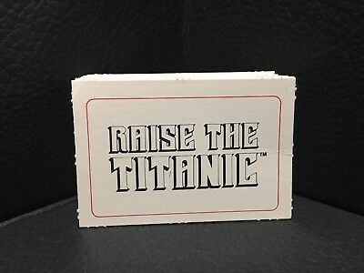 1987 Hoyle RAISE THE TITANIC Board Game Replacement Parts Pieces Set Of 25 CARDS