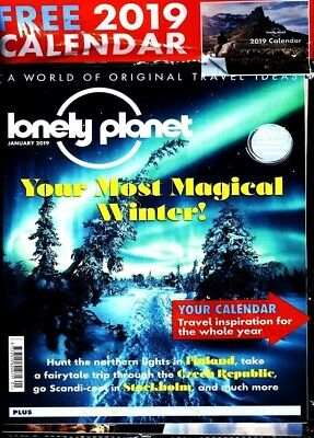Lonely Planet Magazine January 2019 Sealed With Free Calendar