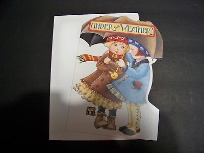 """MARY ENGELBREIT  GET WELL  """"WEATHERED FRIEND""""  1 card/envelope NEW #728"""
