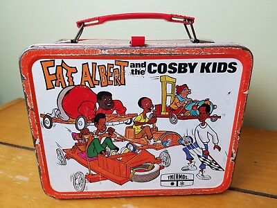 Vintage 1973 Fat Albert And The Cosby Kids Metal Lunch Can