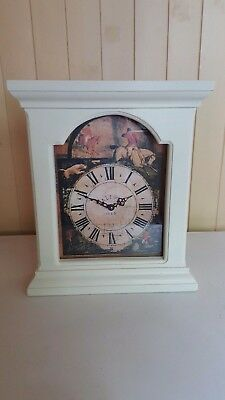Victorian Style Country House Painted Solid Wood Framed Hunting Wall Clock.