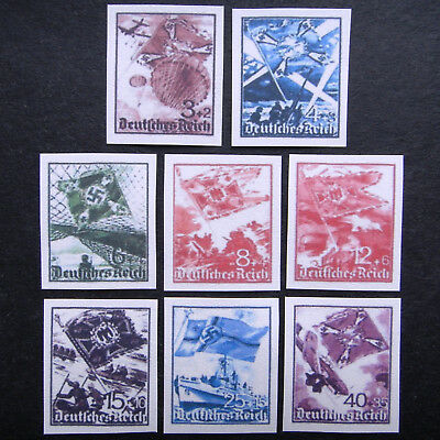Germany Nazi 1941 Stamps MINT  Imperf Swastika Eagle Third Reich WWII German