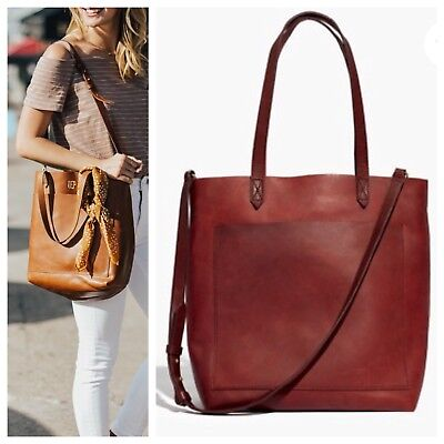 classic shoes purchase authentic pretty cheap MADEWELL MEDIUM TRANSPORT Tote Dark Cabernet