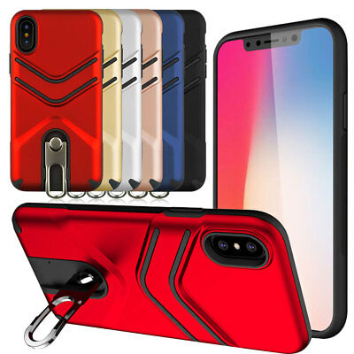 Hybrid Rugged Shockproof Case with Stand Ring For iPhone 7 8 6s Plus XR XS MAX