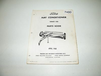 Ford Hay Conditioner Series 510 Parts Catalog April 1965 PA-8007-D