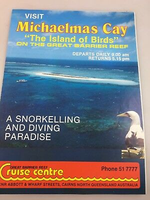 Tourist Brochure Michaelmans Cay - Great Barrier Reef - Possibly 1960's