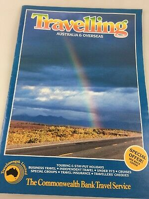 Tourist Brochure Travelling - Commonwealth Bank Travel Service - 1987