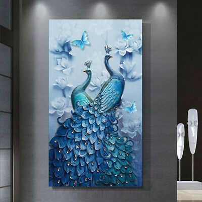 Peacock 5D Diamond Painting Embroidery DIY Cross Stitch Kit Craft Home Decor Art