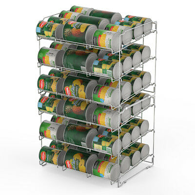 36 Can Storage Rack Pantry Organizer Kitchen Cabinet Shelf Soup Canned Holder US