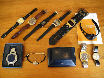 Collection of 10 Vintage 1930's-1990's Watches