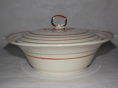 Myott Manchuria Serving Bowl Lidded Staffordshire Hand Painted Free Shipping