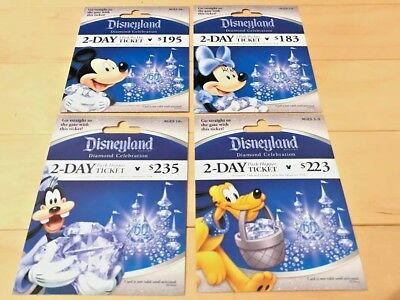Limited 4 Disney Diamond Celebration Gift Card - No Cash Value Collectible MINT
