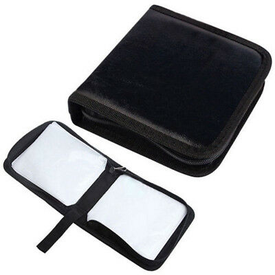 Newest 40 Disc CD Holder DVD Case Storage Wallet VCD Organizer Faux Leather Bag