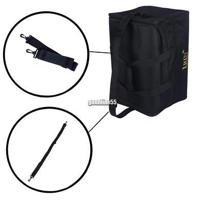 Cajon Drum Bag Backpack 600D 5mm Cotton Padding with Carrying Shoulder EA9