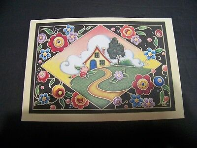 """MARY ENGELBREIT  ANNIVERSARY  """"Cottage Cameo""""   1 card/envelope NEW #734"""