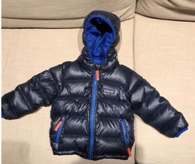 10f2ce3c2e652 PATAGONIA BABY HI-LOFT down sweater hoody - blue, size 18-24 months ...