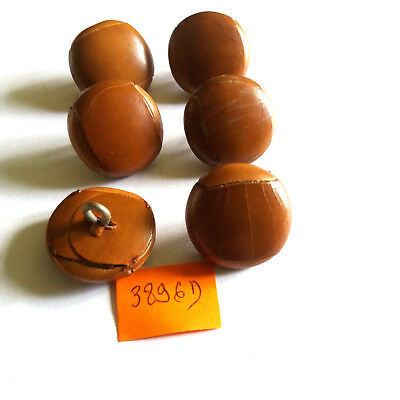 15 mm pied button brown leather LOT 6 BOUTONS  NEUFS MARRON imit CUIR