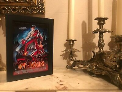 Army of darkness 3D Art Horror Decor Movie Poster vhs
