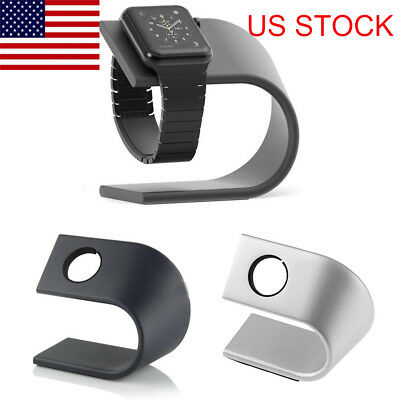 Aluminum Alloy Charging Holder Stand Dock Station for Apple Watch iWatch US