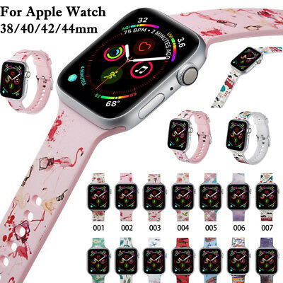 Silicone Wrist Strap Band Bracelet Apple Watch iWatch Series 4/3/2/1 38/40/44mm