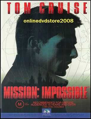 MISSION: IMPOSSIBLE (Tom CRUISE Jon VOIGHT) ACTION Film DVD NEW SEALED Region 4