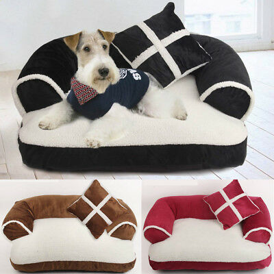 Pet Dog Cat Bed Sofa Chair Mat Kennel Doggy Puppy Cushion Basket Pad Soft Couch