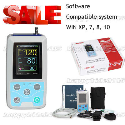 CONTEC Ambulatory Blood Pressure Monitor+Software 24h NIBP Holter ABPM50