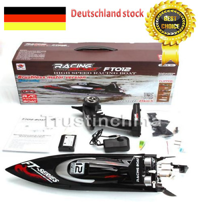 Feilun FT012 4CH 2.4G Brushless Water Cooling High Speed Racing RC Boat DE DHL