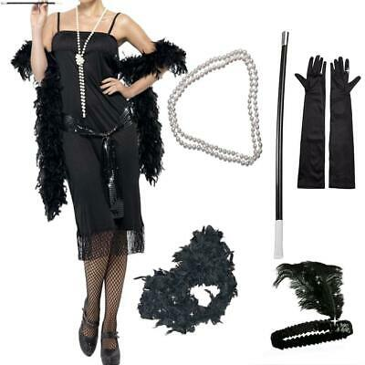 Lady Gatsby Fancy Dress Accessories Flapper 20'S Theme Charleston Girl Costume