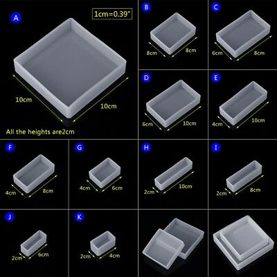 Silicone Mold Square Rectangle Exopy Resin Mirror Mould DIY Jewelry Decor
