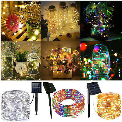 50-200 LED Solar Power Fairy Lights String Lamps Party Xmas Deco Garden Outdoor