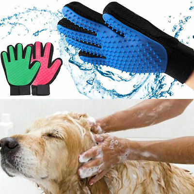 Pet Grooming Glove Brush Loose Hair Remover Fur Massage Removal Tool for Dog Cat